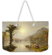 Autumn On Greenwood Lake Weekender Tote Bag
