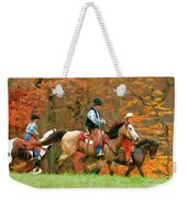 Autumn On Horseback Weekender Tote Bag