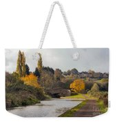 Autumn On The Canal Weekender Tote Bag