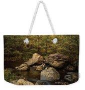 Autumn On The Creek  Weekender Tote Bag