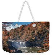 Autumn On The Cumberland  Cumberland Falls Weekender Tote Bag