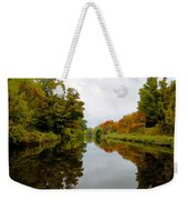 Autumn On The Erie Canal Weekender Tote Bag