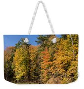 Autumn On The Riverbank - The Changing Forest Weekender Tote Bag