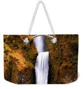Autumn Orange Multnomah Falls Weekender Tote Bag