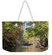 Autumn Over Golden Waters Weekender Tote Bag