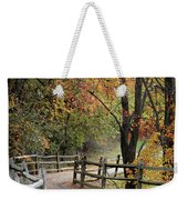 Autumn Path In Park In Maryland Weekender Tote Bag