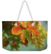 Autumn Persimmon Leaves Weekender Tote Bag