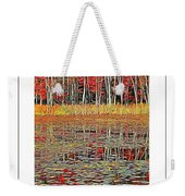 Autumn Pond And Lily Pads Poster Weekender Tote Bag
