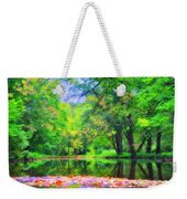 Autumn Pond In Gladwyne Weekender Tote Bag by Bill Cannon