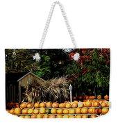 Autumn Pumpkins And Cornstalks Graphic Effect Weekender Tote Bag