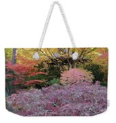 Autumn Purple Weekender Tote Bag