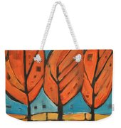 Autumn Quilt Weekender Tote Bag