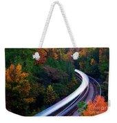 Autumn Rails Weekender Tote Bag