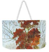 Autumn Red Weekender Tote Bag