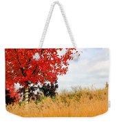 Autumn Red Maple Weekender Tote Bag