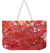 Autumn Red Poster Weekender Tote Bag