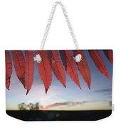 Autumn Red Sumac Leaves Weekender Tote Bag