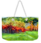Autumn Reds Weekender Tote Bag by Lenore Gaudet