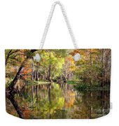 Autumn Reflection On Florida River Weekender Tote Bag by Carol Groenen