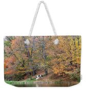 Autumn Reflections Cow Farm Weekender Tote Bag