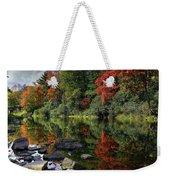 Autumn River Landscape Weekender Tote Bag