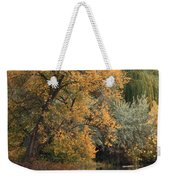 Autumn Riverbank Weekender Tote Bag