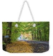 Autumn Road 2 Weekender Tote Bag