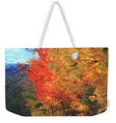 Autumn Roadside Weekender Tote Bag