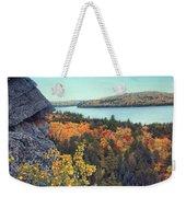 Autumn Rocks Booth's Rock Lookout Weekender Tote Bag