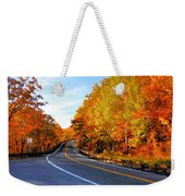 Autumn Scene With Road In Forest 2 Weekender Tote Bag