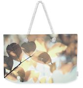 Autumn Season Leaves On A Tree In Sun Light Weekender Tote Bag