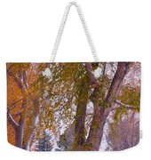 Autumn Snow Park Bench   Weekender Tote Bag