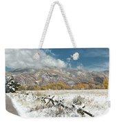 Autumn Snowfall In Aspen Weekender Tote Bag
