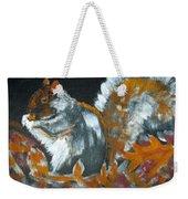 Autumn Squirrel Weekender Tote Bag