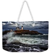 Autumn Storm At Cape Neddick Weekender Tote Bag by Rick Berk