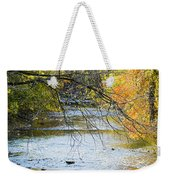 Autumn Stream Reflections Weekender Tote Bag