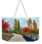 Autumn Stroll In The Park Weekender Tote Bag