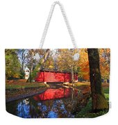 Autumn Sunrise Bridge II Weekender Tote Bag