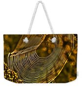 Autumn Sunrise With Spider Web Weekender Tote Bag