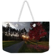 Autumn Sunset, Shawnigan Lake Weekender Tote Bag