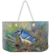 Autumn Sweet Gum With Blue Jay Weekender Tote Bag