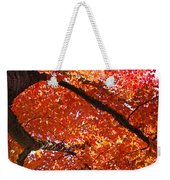 Autumn Tree Art Prints Orange Red Leaves Baslee Troutman Weekender Tote Bag