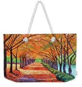 Autumn Tree Lane Weekender Tote Bag