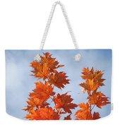 Autumn Tree Leaves Art Prints Blue Sky White Clouds Weekender Tote Bag