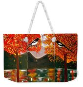 Autumn Trilogy Weekender Tote Bag