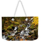 Autumn Tumbles Down Weekender Tote Bag