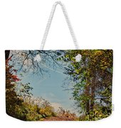 Autumn Up Hill Weekender Tote Bag
