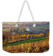Autumn View Of Church On The Rural Hills Weekender Tote Bag