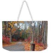 Autumn Walk At West Thompson Lake  Weekender Tote Bag