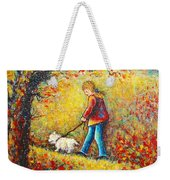 Autumn Walk  Weekender Tote Bag